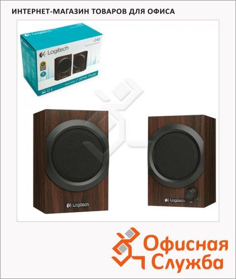 фото: Колонки компьютерные Logitech Z240 2х5Вт, коричневые, 2.0