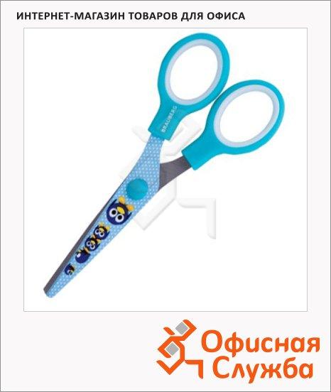 Ножницы детские Brauberg Пингвин 13см, голубые