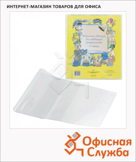 фото: Обложка для учебника Топ-Спин 105мкм 23.2x45cм, прозрачная, 15шт