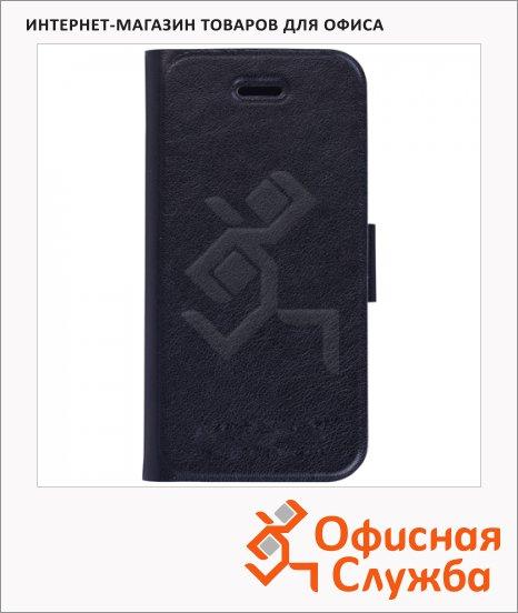 фото: Чехол для Apple iPhone 5/5S Respect черный горизонтальный, искусственная кожа