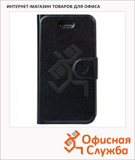 Чехол для Apple iPhone 4/4S Sonnen Respect черный, горизонтальный, искусственная кожа