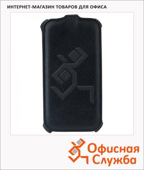 Чехол для Samsung Galaxy S4 Sonnen Respect черный, вертикальный, искусственная кожа