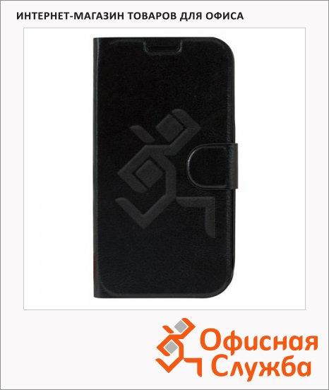 фото: Чехол для Samsung Galaxy S4 Sonnen Respect черный горизонтальный, искусственная кожа