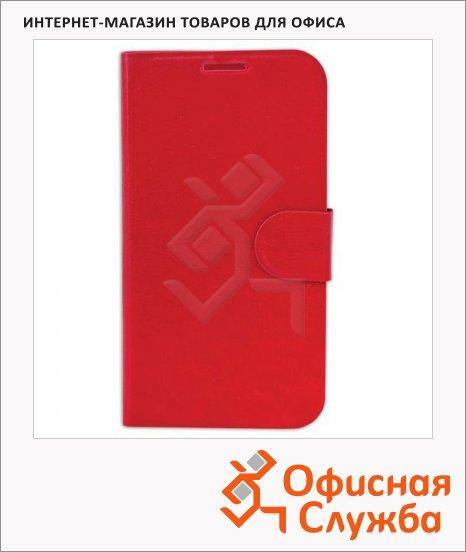 фото: Чехол для Samsung Galaxy S4 Sonnen Elegance красный горизонтальный, искусственная кожа