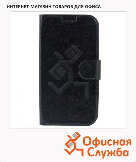 Чехол для Samsung Galaxy S3 Sonnen Respect черный, горизонтальный, кожзам