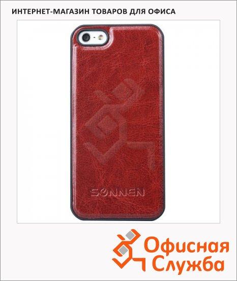 фото: Чехол для Apple iPhone 5/5S Sonnen Concept коричневый пластиковый
