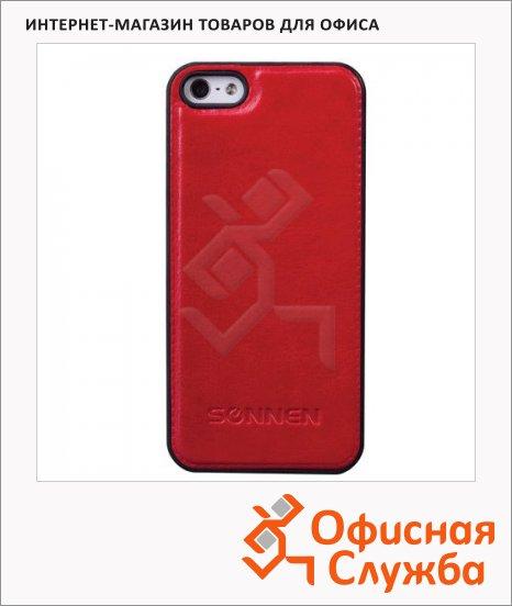 фото: Чехол для Apple iPhone 5/5S Sonnen Elegance красный пластиковый