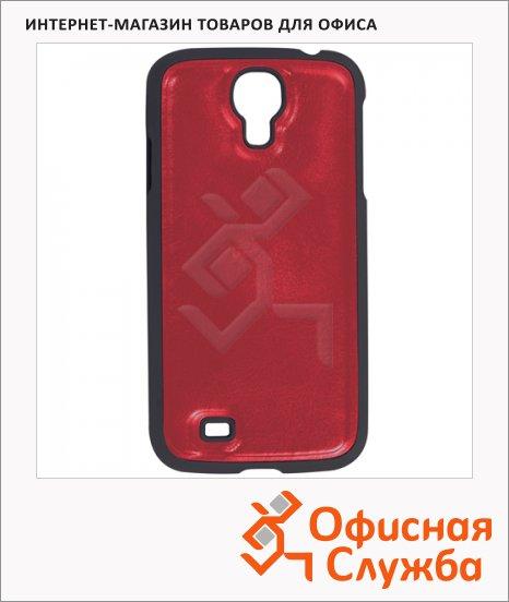 фото: Чехол для Samsung Galaxy S4 Sonnen Elegance красный пластик, искусственная кожа