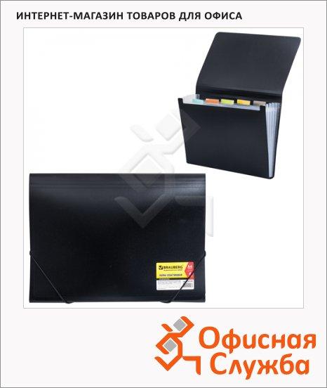 фото: Пластиковая папка на резинке Brauberg Business черная A4, 224145