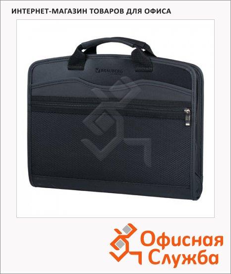 фото: Сумка пластиковая Brauberg Business A4 375х305х60, черная