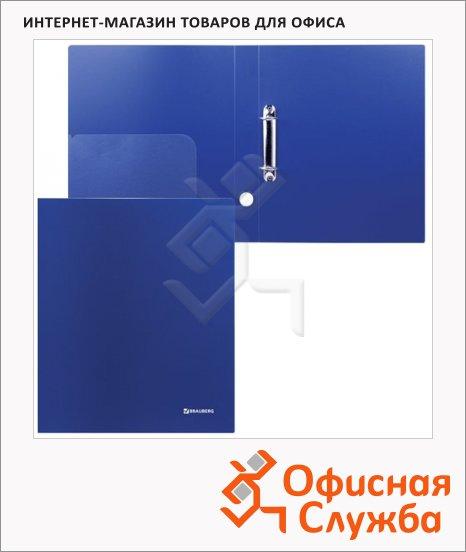 фото: Папка на 2-х кольцах А4 Brauberg Диагональ синяя 40 мм