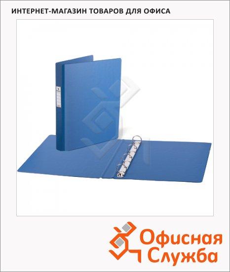 Папка на 4-х кольцах А4 Brauberg синяя, 35 мм