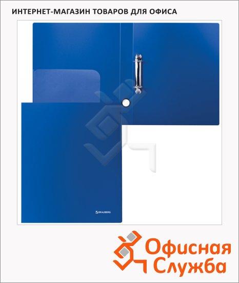 фото: Папка на 2-х кольцах А4 Brauberg Стандарт синяя 40 мм
