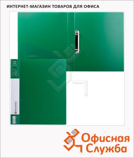 Папка на 2-х кольцах А4 Brauberg Contract зеленая, 35 мм