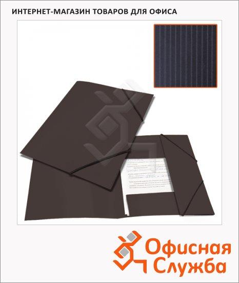 фото: Пластиковая папка на резинке Brauberg Contract черная A4, до 300 листов
