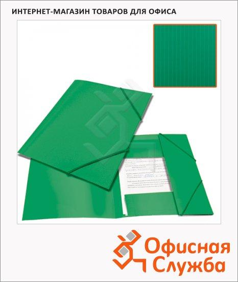 фото: Пластиковая папка на резинке Brauberg Contract зеленая A4, до 300 листов