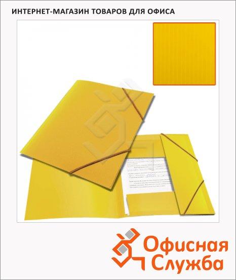 фото: Пластиковая папка на резинке Brauberg Contract желтая A4, до 300 листов
