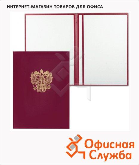 Папка адресная Герб России бордовая, А4, бумвинил