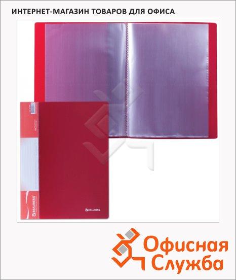 фото: Папка файловая Brauberg Стандарт красная А4, на 10 файлов