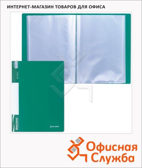 фото: Папка файловая Brauberg Стандарт зеленая А4, на 40 файлов