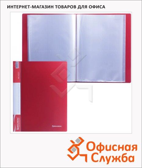 фото: Папка файловая Brauberg Стандарт красная А4, на 40 файлов