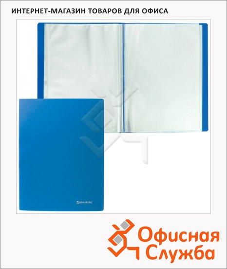 фото: Папка файловая Brauberg Бюджет синяя А4, на 100 файлов