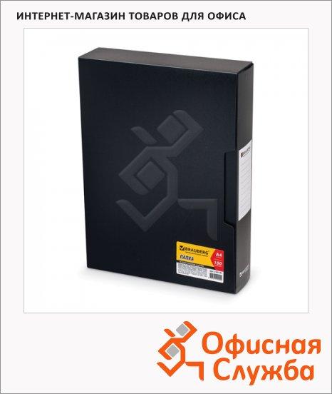 фото: Папка файловая Brauberg Business черная А4, на 100 файлов