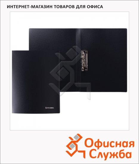 Папка пластиковая с зажимом Brauberg черная, А4, 221630