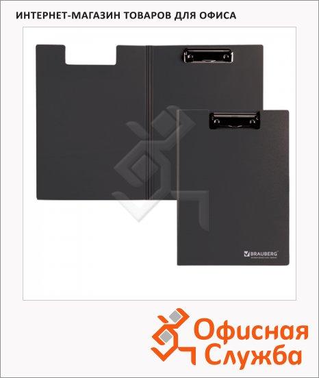 фото: Клипборд с крышкой Brauberg Contract черный А4