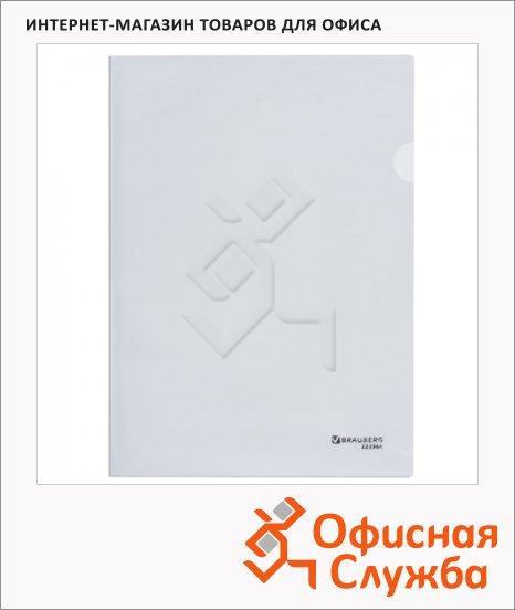 Папка-уголок Brauberg прозрачная, A4, 100мкм