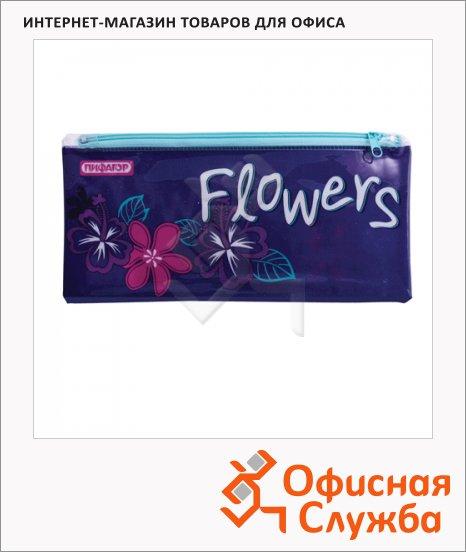 фото: Пенал для девочек Flower мягкий