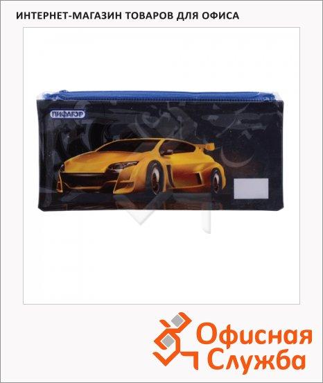фото: Пенал для мальчиков Yellow car мягкий