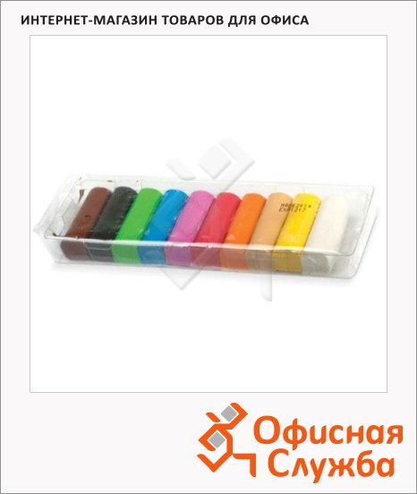 Пластилин Koh-I-Noor 10 цветов, 200г, картонная коробка с пластиковым поддоном