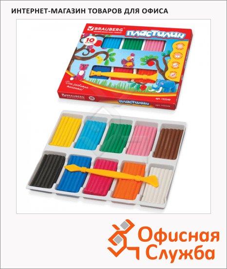 фото: Пластилин Brauberg Высшее качество 10 цветов 250г