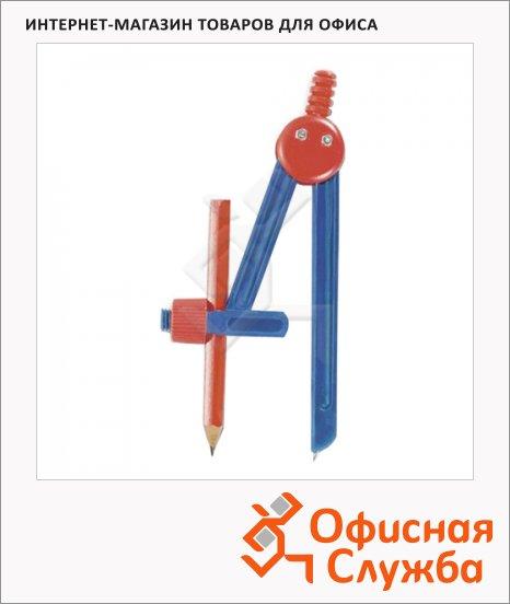 фото: Циркуль Пифагор пластиковый с карандашом в чехле