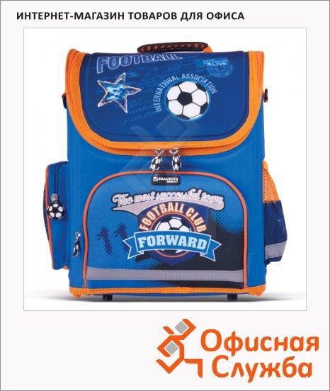 фото: Ранец для мальчиков Football 37х29х17см синий/оранжевый