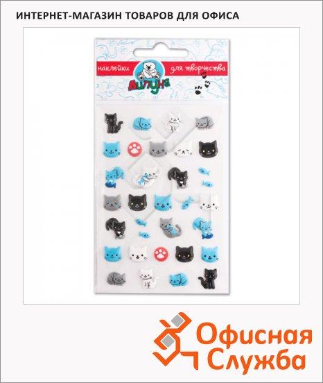 Наклейки декоративные детские Липуня Зефирные кошки