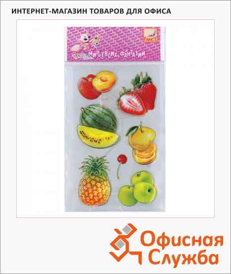 Наклейки декоративные детские Action Фрукты-ягоды, 7.5х12.5см, объемные