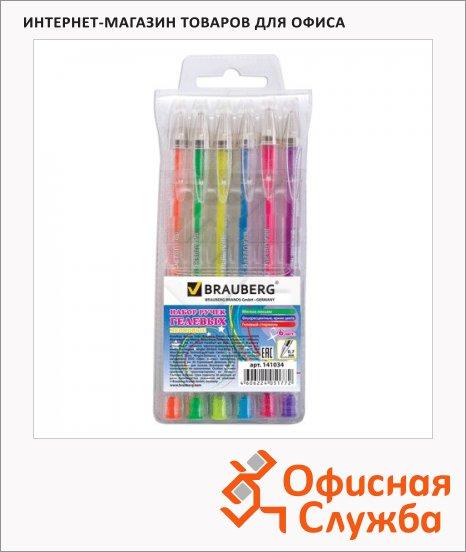 Набор ручек гелевых Brauberg Zero Kids 6 цветов, 0.7мм, 6шт/уп, неоновые