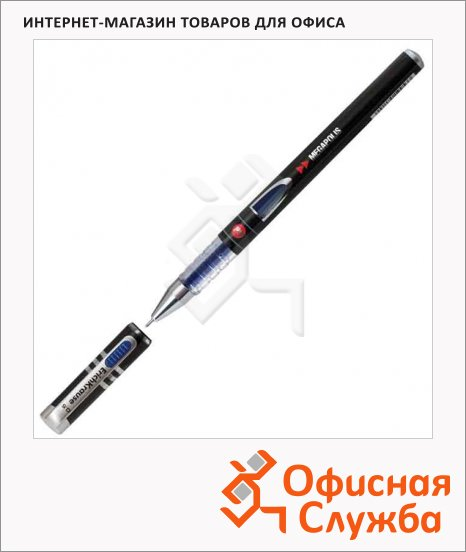 Ручка гелевая Erich Krause Megapolis gel black tie синяя, 0.5мм