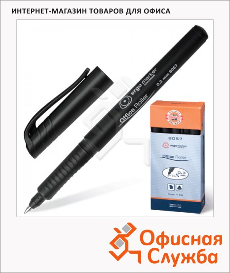 Ручка-роллер Koh-I-Noor 7780573801KS черная, 0.3мм, трехгранная