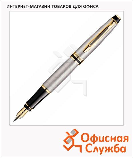 Ручка перьевая Waterman Expert 3 Stainless Steel GT S0951940 F, латунный корпус/позолота 14карат