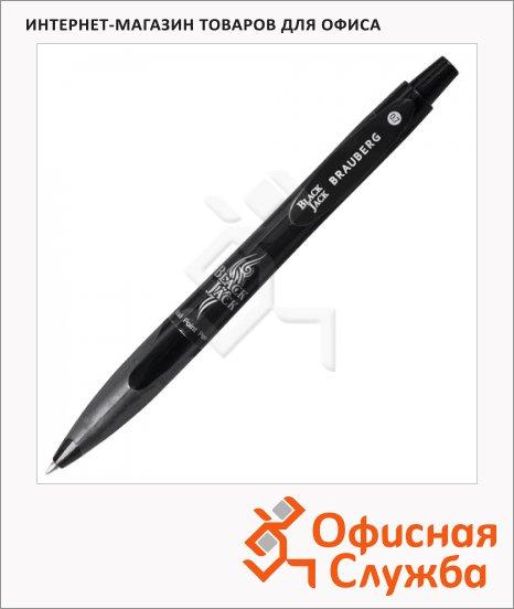 фото: Ручка шариковая автоматическая Brauberg Black Jack синяя 0.7мм, черный корпус