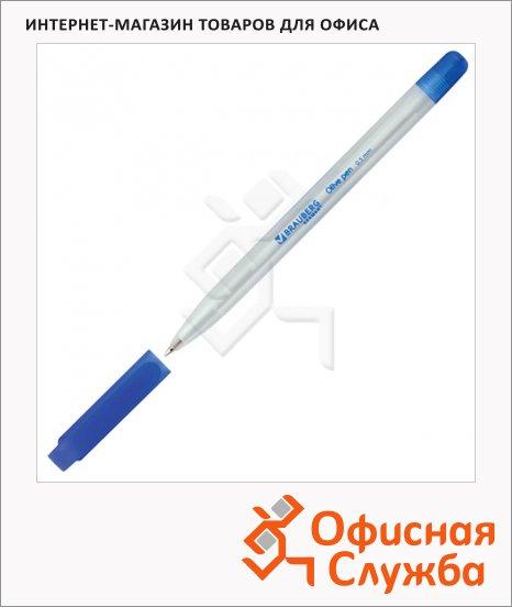 Ручка шариковая Brauberg Olive pen синяя, 0.5мм, прозрачный корпус