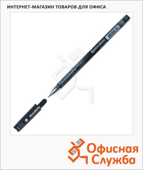 Ручка шариковая Brauberg Profi-Oil черная, 0.7мм, корпус с принтом