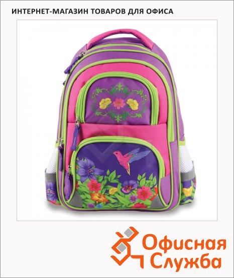 фото: Рюкзак для девочек Colibri 38х30х14см розовый/ салатовый, 223751