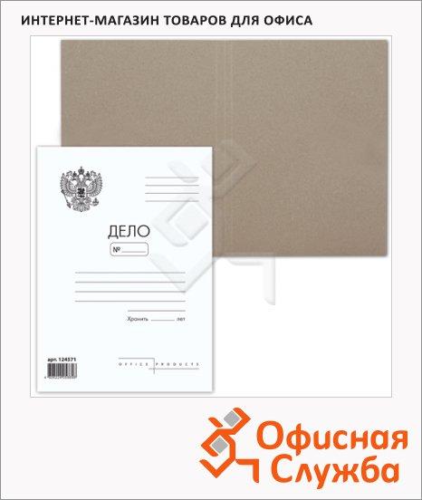 Папка-обложка картонная Brauberg Дело белая, А4, 300г/м2, без механизма, герб России