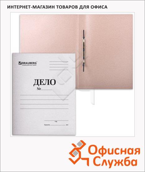 Скоросшиватель картонный Brauberg Дело белый, А4, 400 г/м2