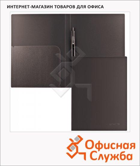 Скоросшиватель пластиковый Brauberg Диагональ черный, А4