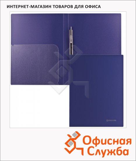 Скоросшиватель пластиковый Brauberg Диагональ темно-синий, А4